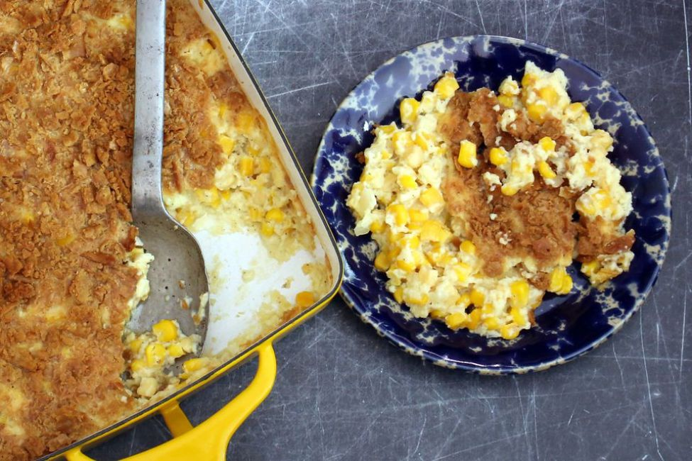 Corn Gratin With Cracker Crumb Topping