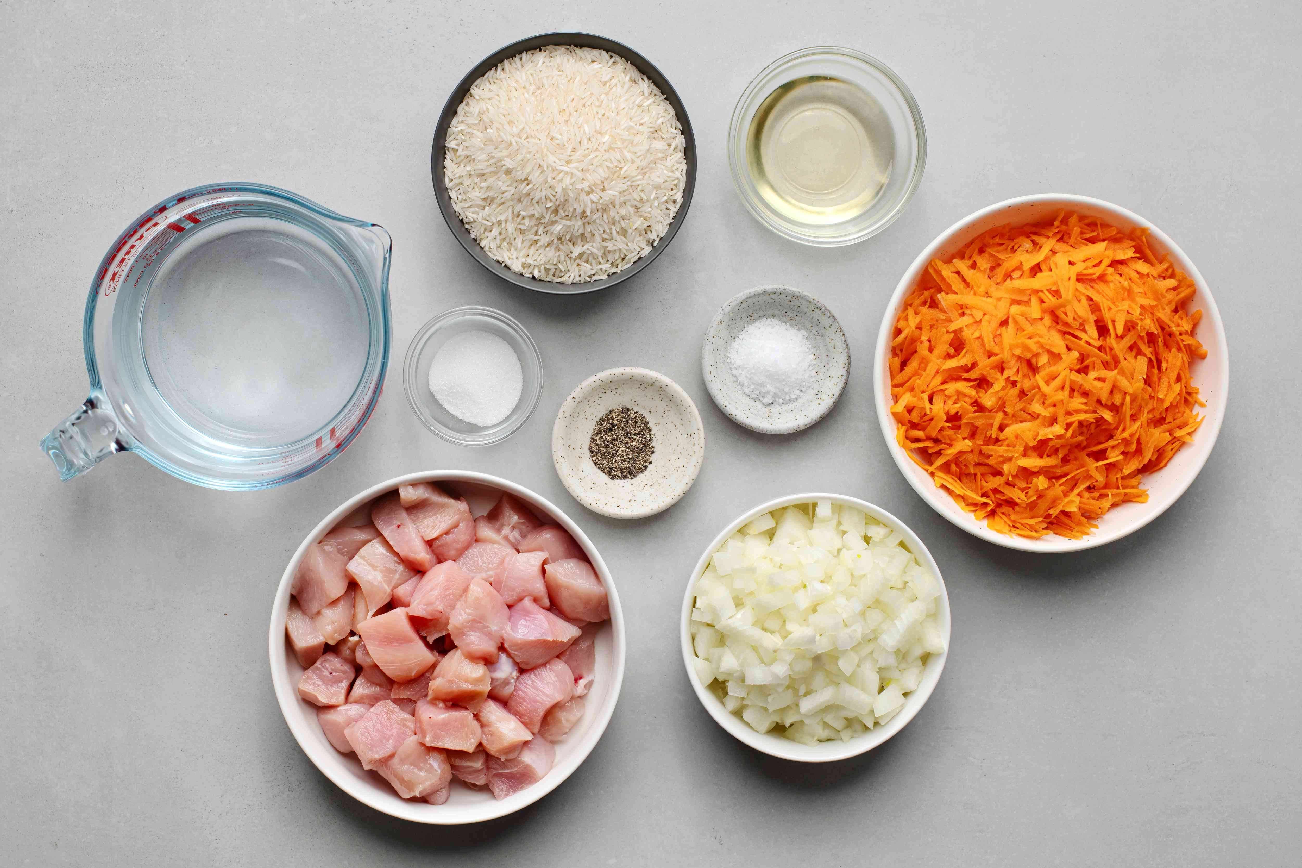 Bukharan Chicken and Rice Plov With Vegetables ingredients
