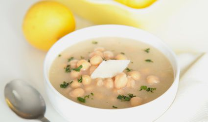 Lemon Miso Broth with Chickpeas and Parmesan