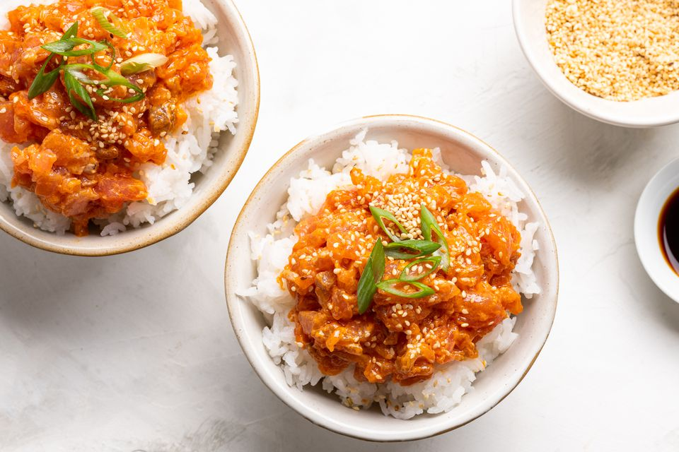 Spicy Tuna Donburi Rice Bowl