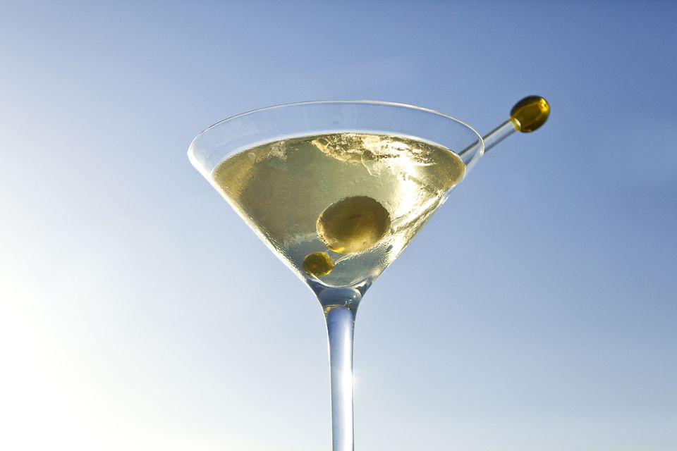 Dirty Tequila Martini Cocktail