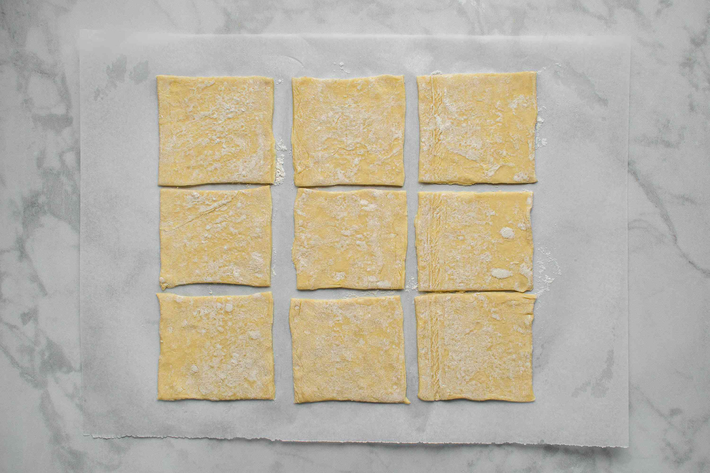 puff pastry cut into pieces