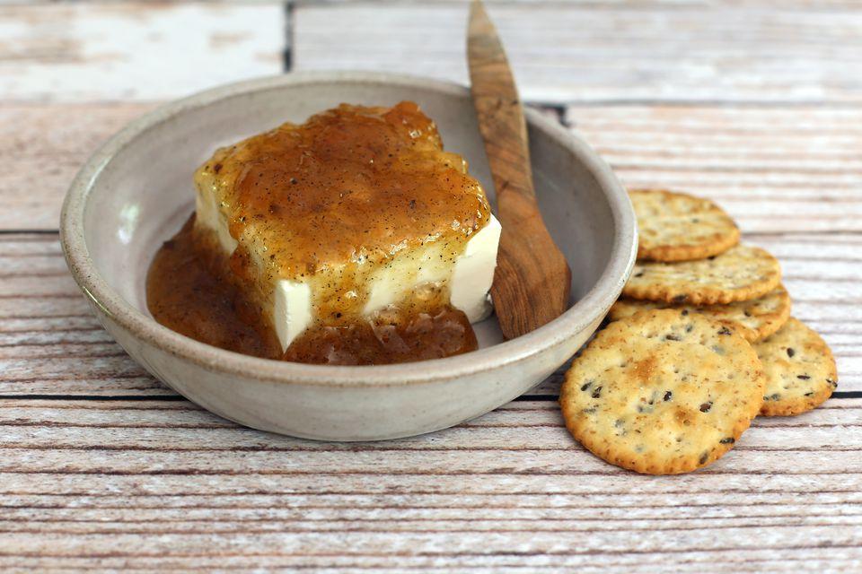 Jezebel Sauce on Cream Cheese