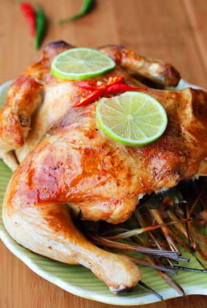 Lemongrass chicken (with sweet lime sauce)