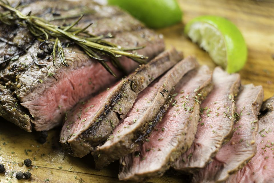 Grilled Garlic-Lemon Flank Steak