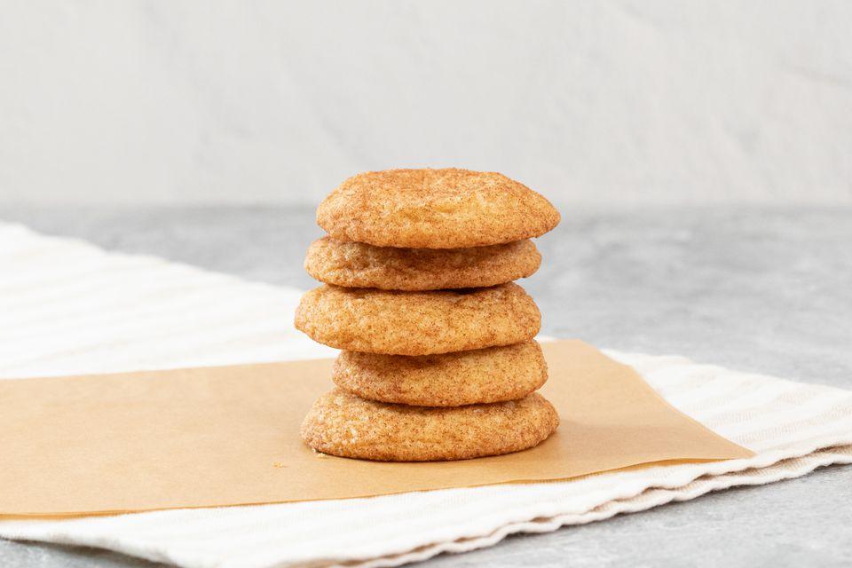 stack of cinnamon coated snickerdoodles