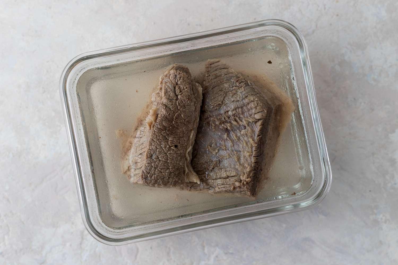 brisket in a container