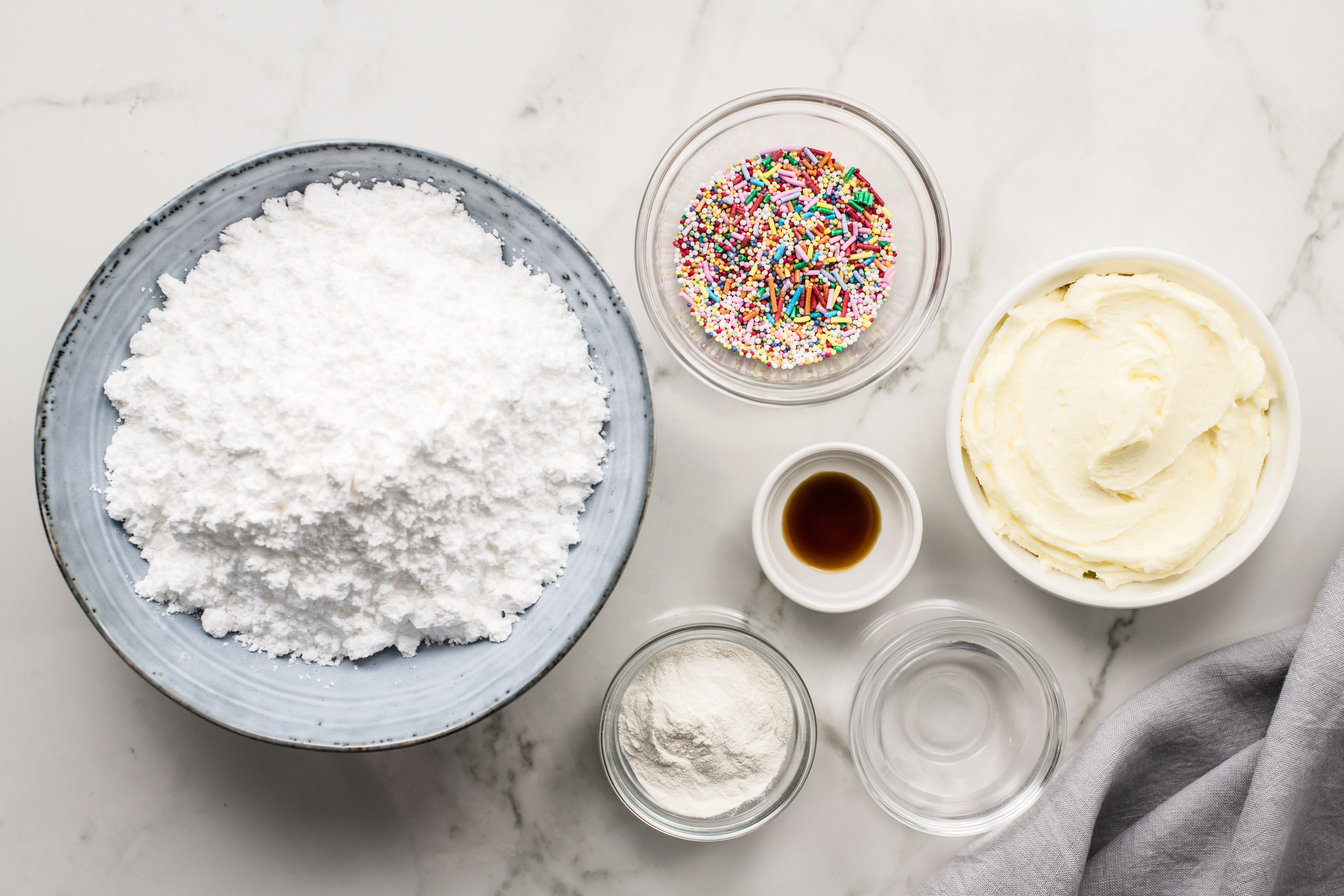 Ingredients for the icing