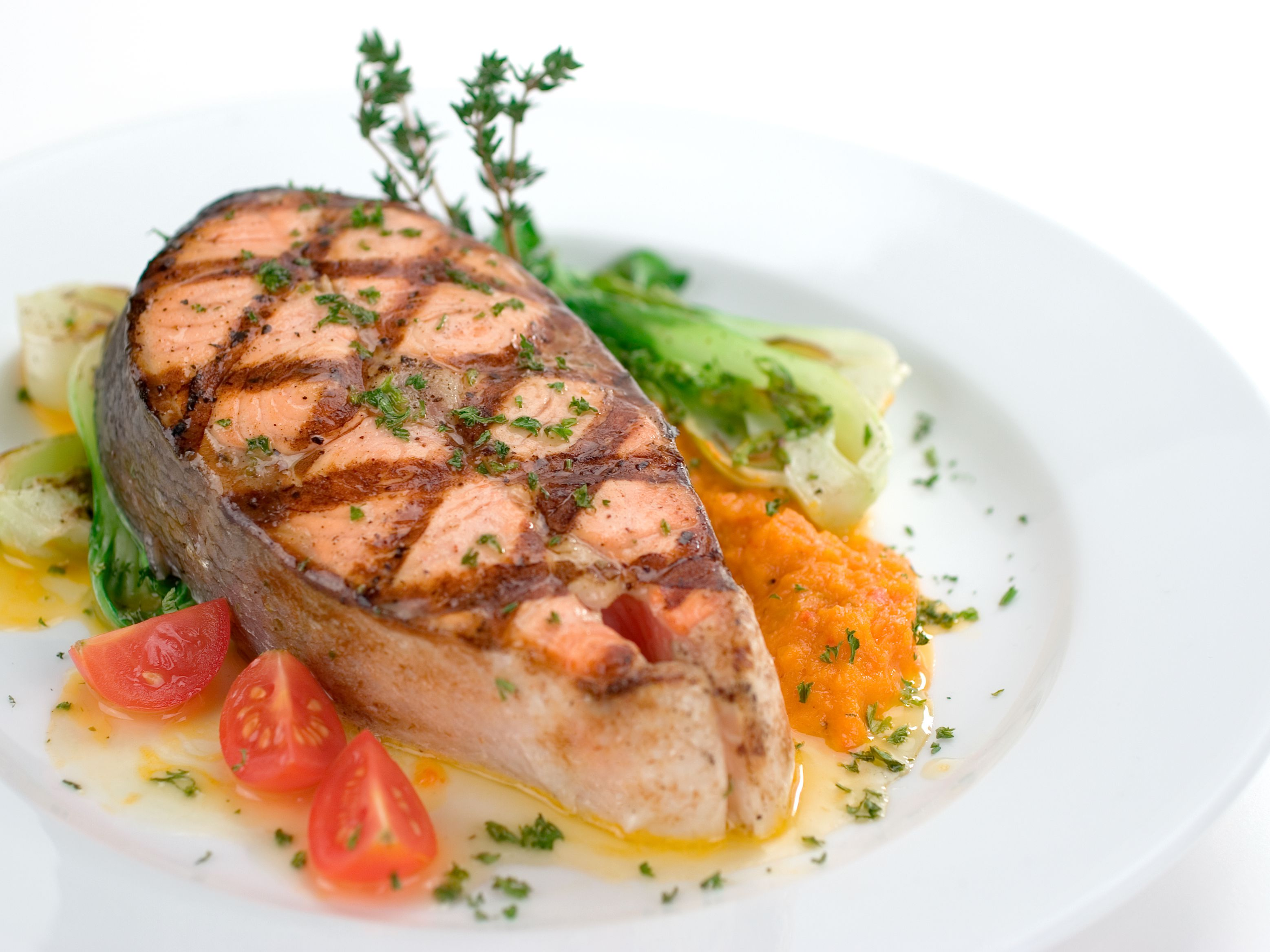 Easy Herbed Grilled Salmon Recipe With White Wine