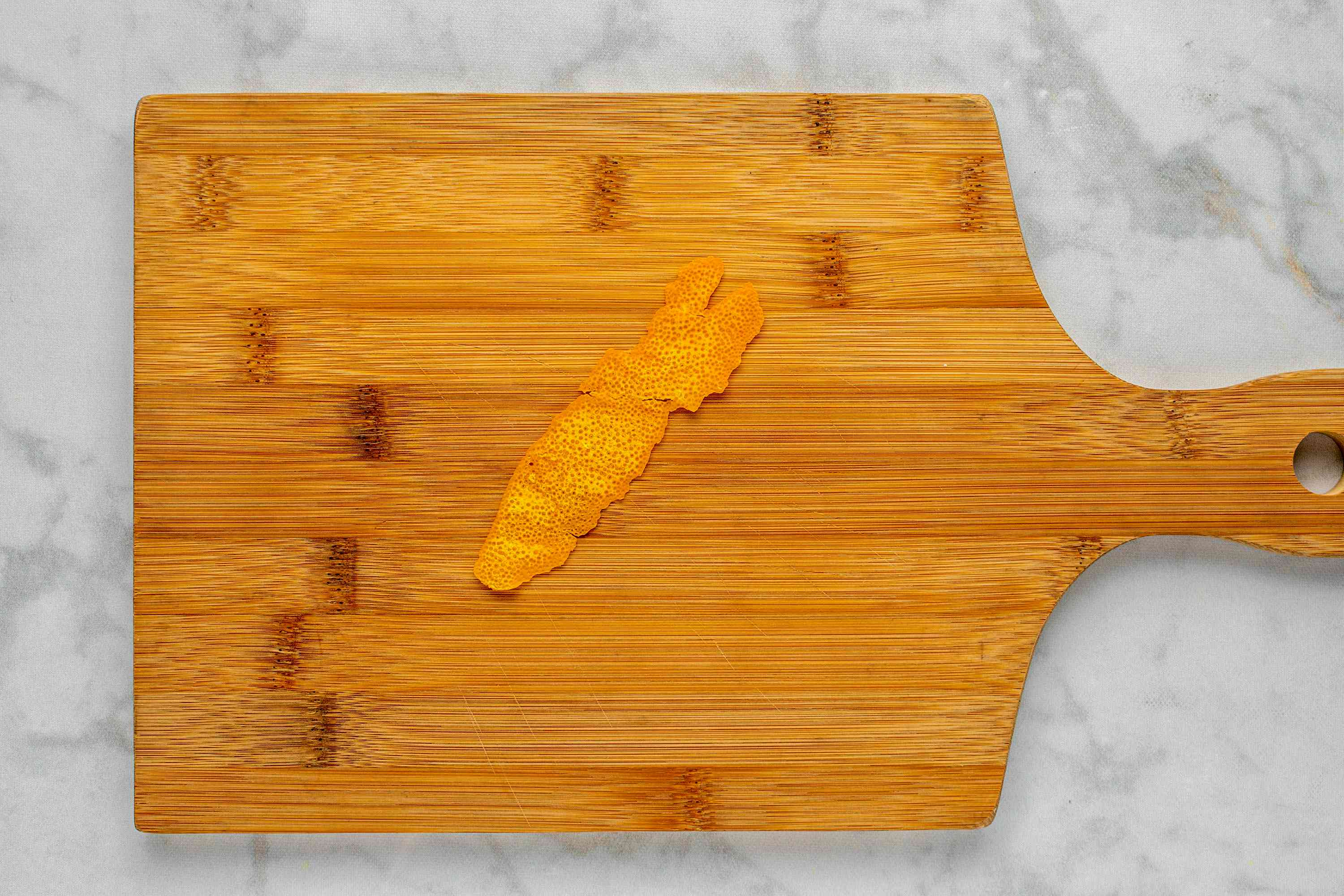 remove white pith from the orange zest