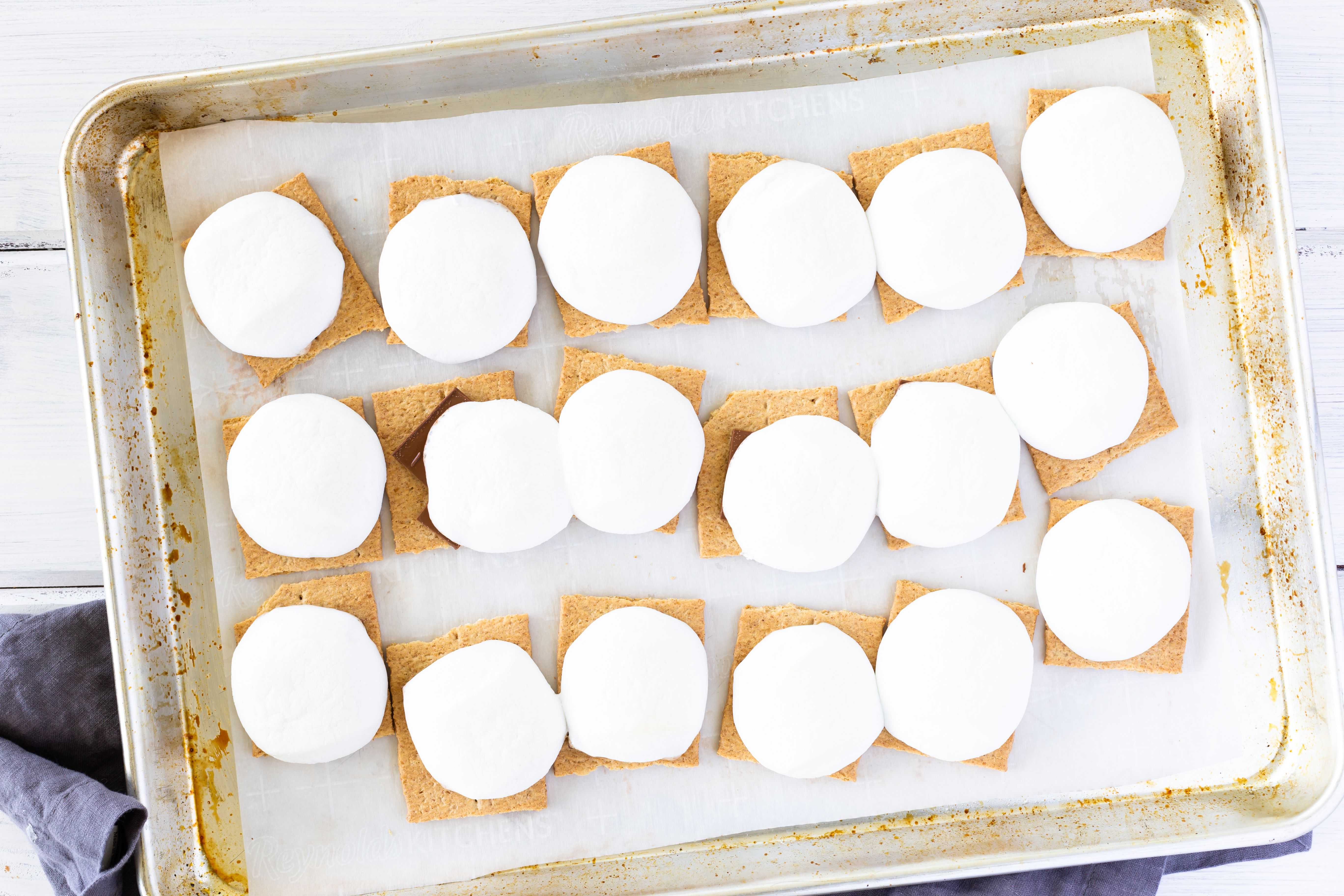 put smores in oven to bake