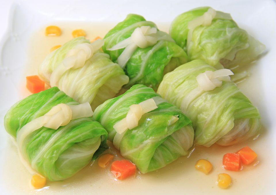 Cabbage Rolls with Pork Filling in Clear Soup