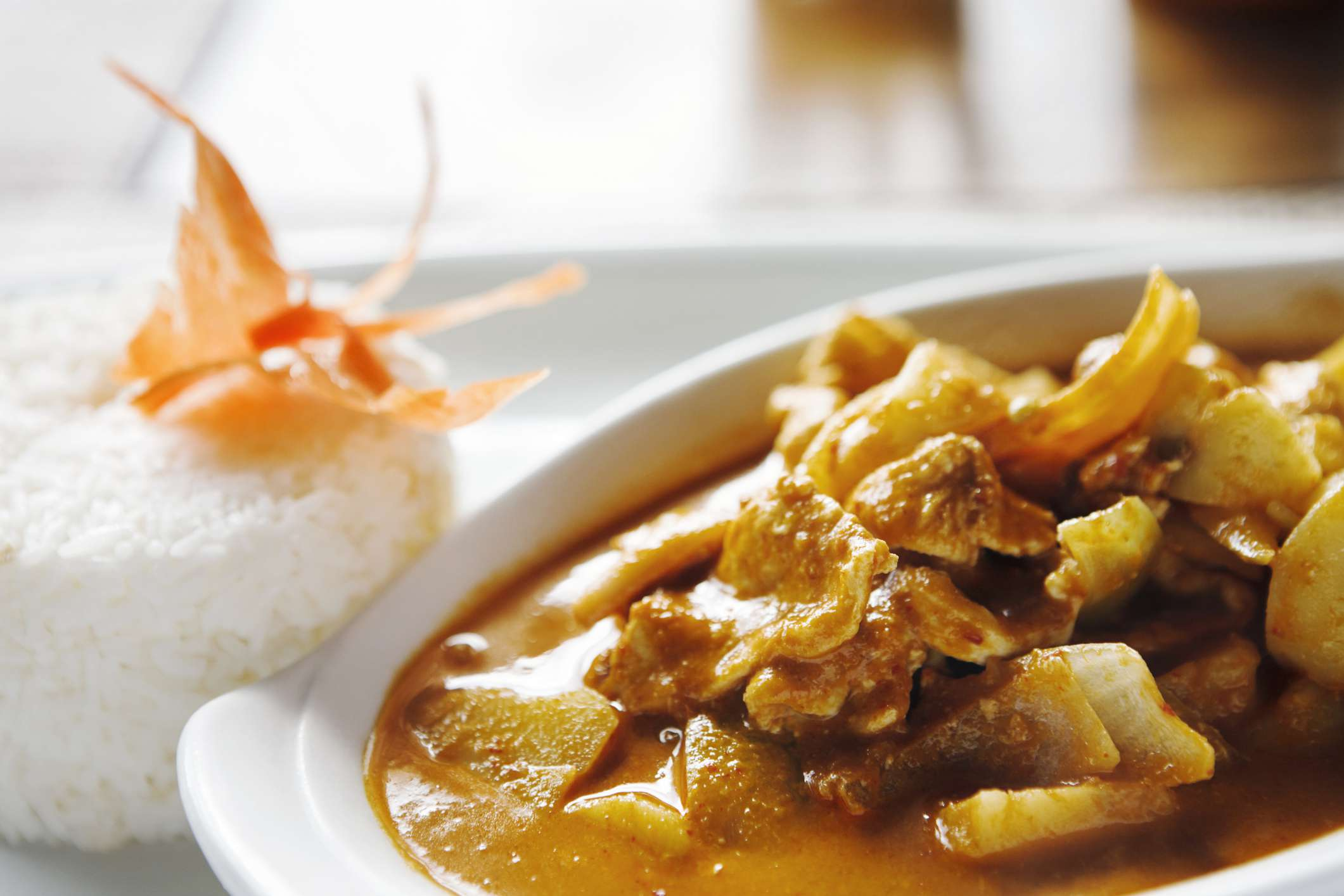 Thai coconut beef red curry