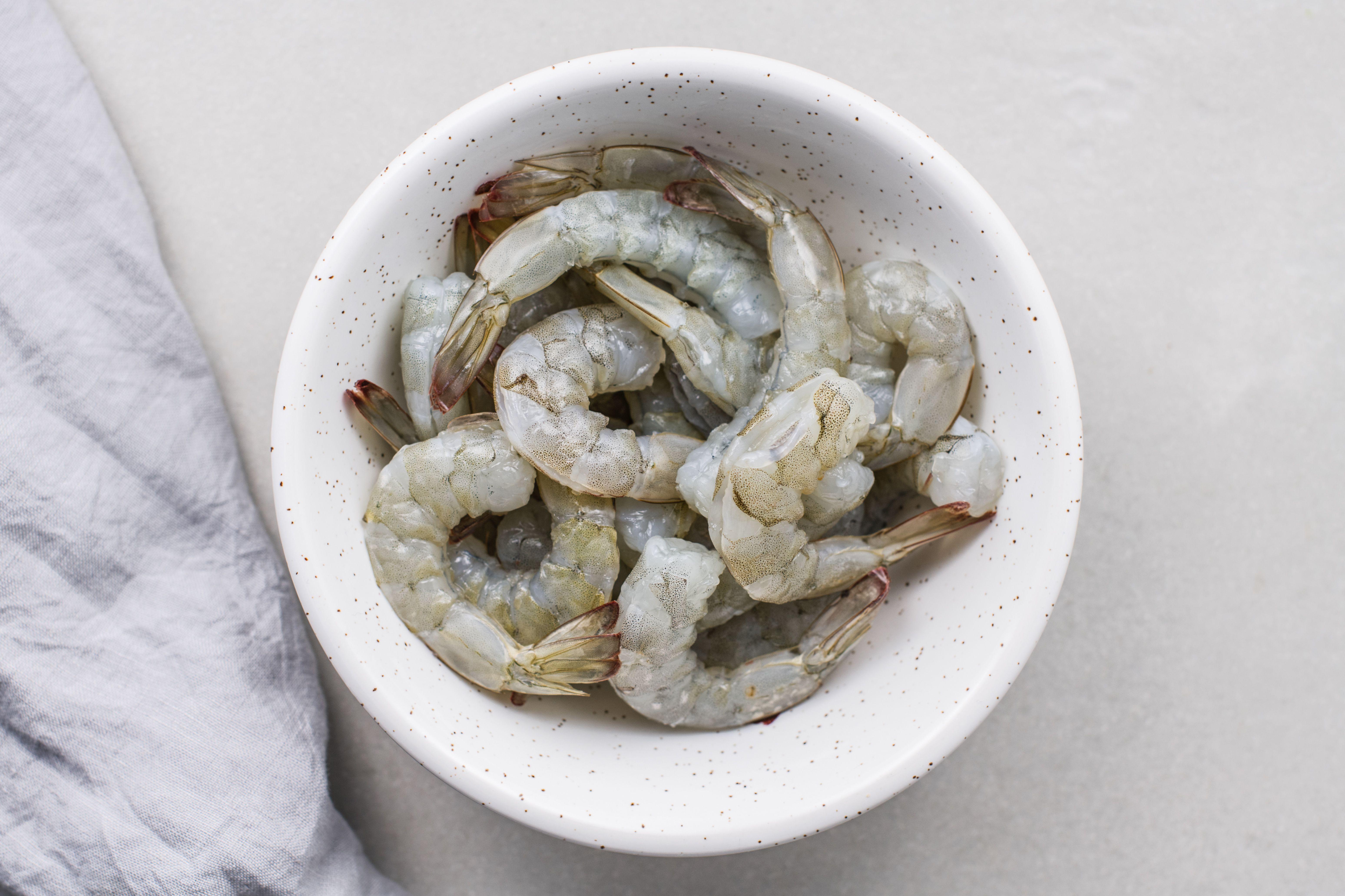 Peel and devein shrimp for Panko-Fried Shrimp Recipe