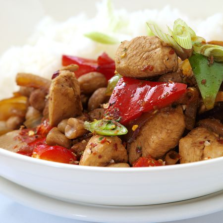 Stir Fried Kung Pao Chicken With Chili Peppers Recipe
