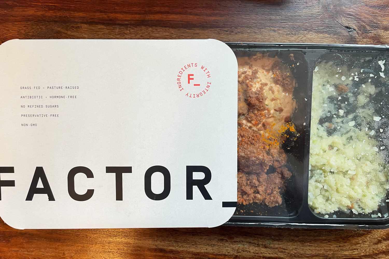 Factor meal in packaging