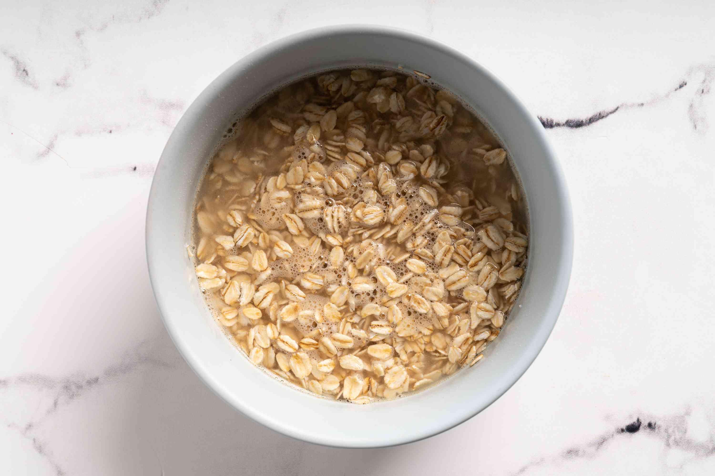 Soak the oats in water