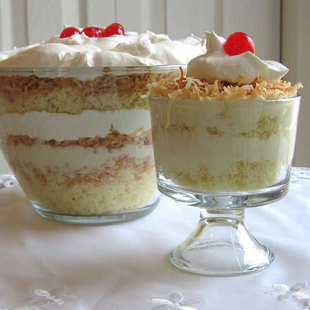 Coconut Custard Trifle