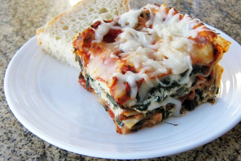 Perfect No-Meat Spinach Lasagna