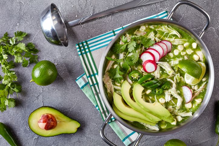 Chicken pozole verde stew