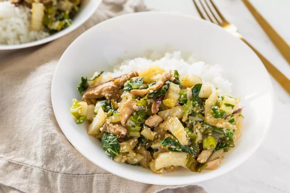 Bok Choy and Shiitake Mushroom Stir-Fry