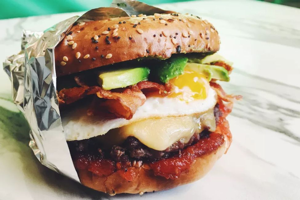Avocado Bacon Breakfast Burger