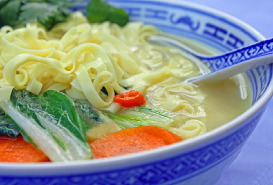 Close up of Thai Vegetable Coconut Soup