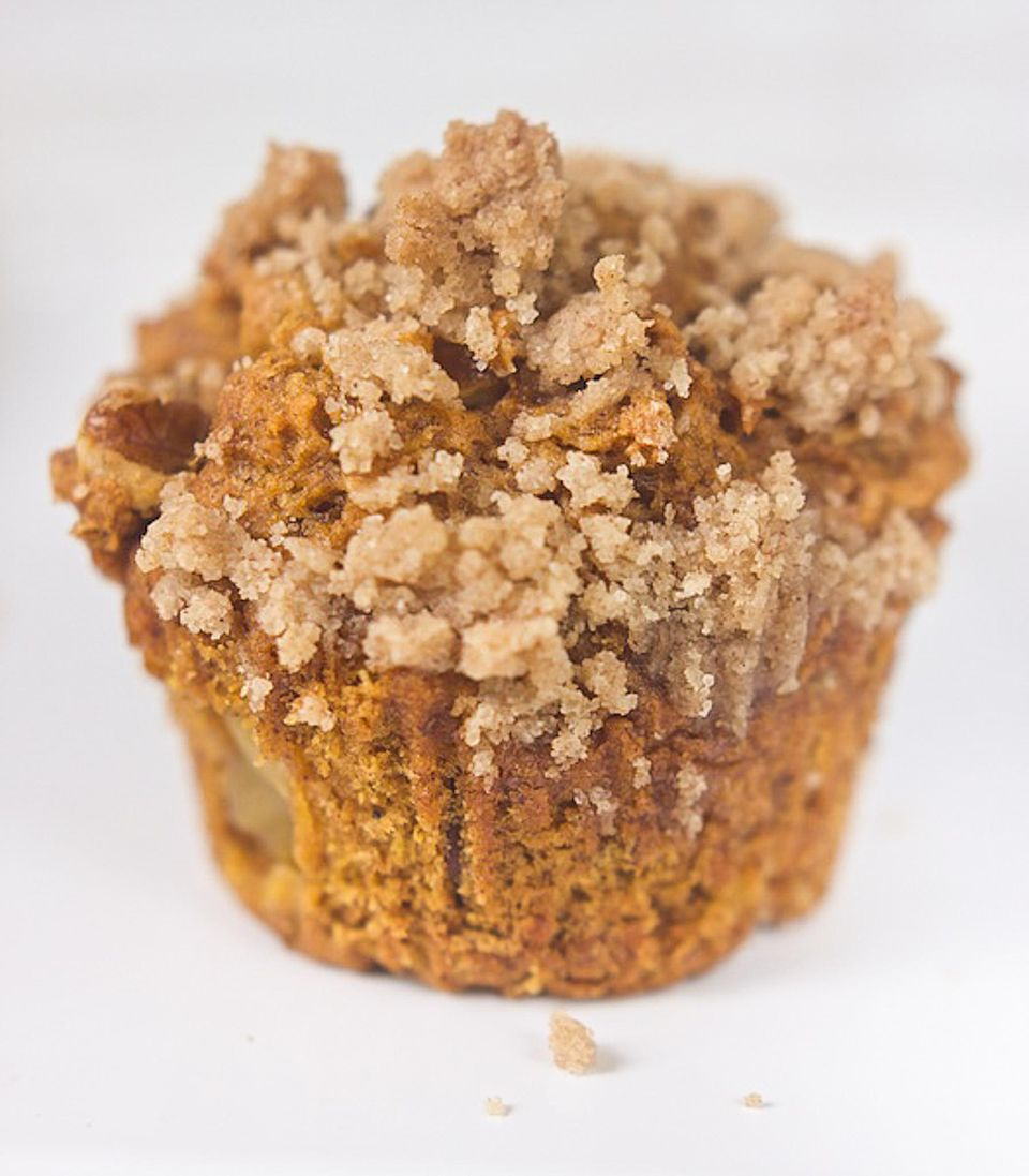 Pumpkin, Apple and Black Walnut Muffins
