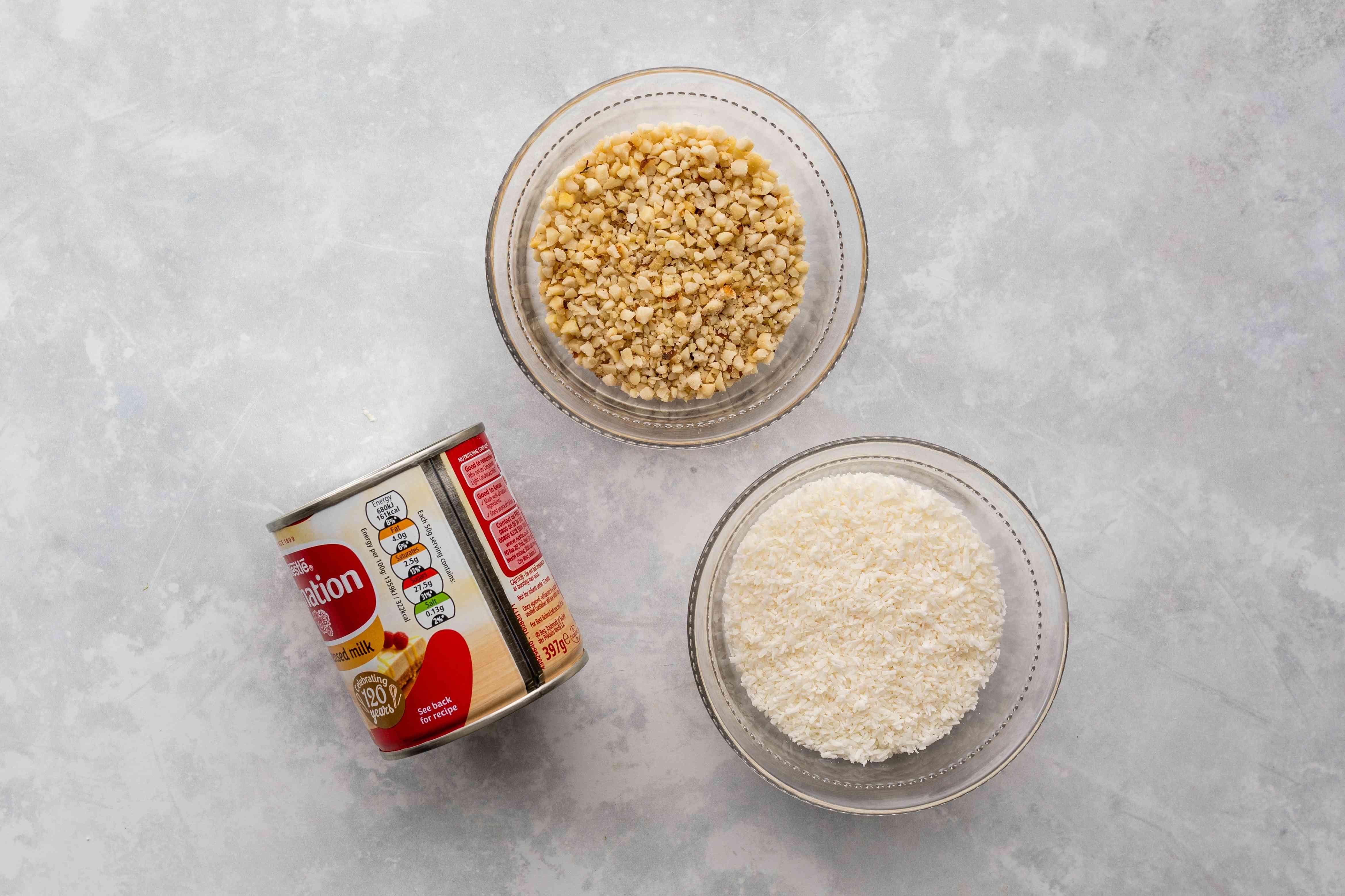 Ingredients for dulce de leche