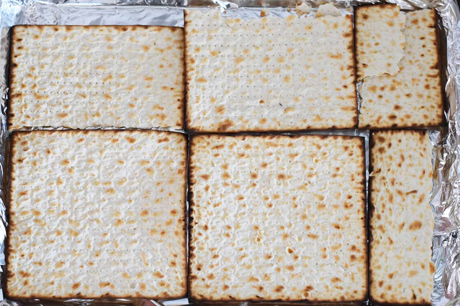 Matzo Crack - Lay out the matzo in one even layer