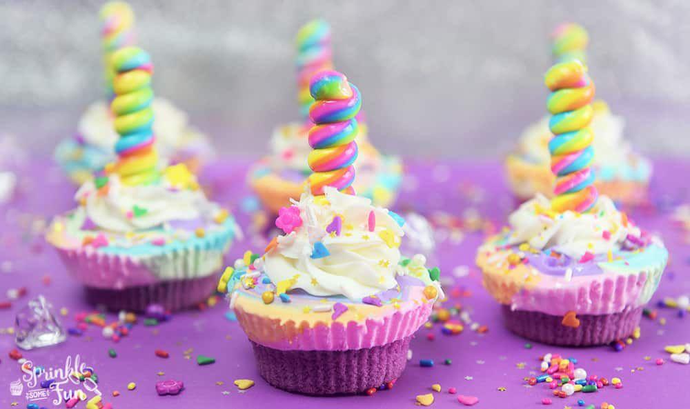 Unicorn Ice Cream Cupcakes