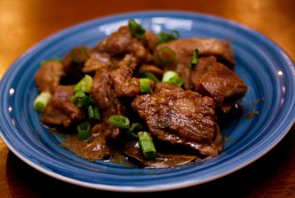 Pork seasoned with adobo