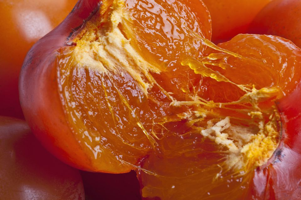 Flesh of a ripe astringent persimmon