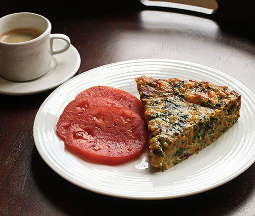 Crustless Chard and Bacon Quiche