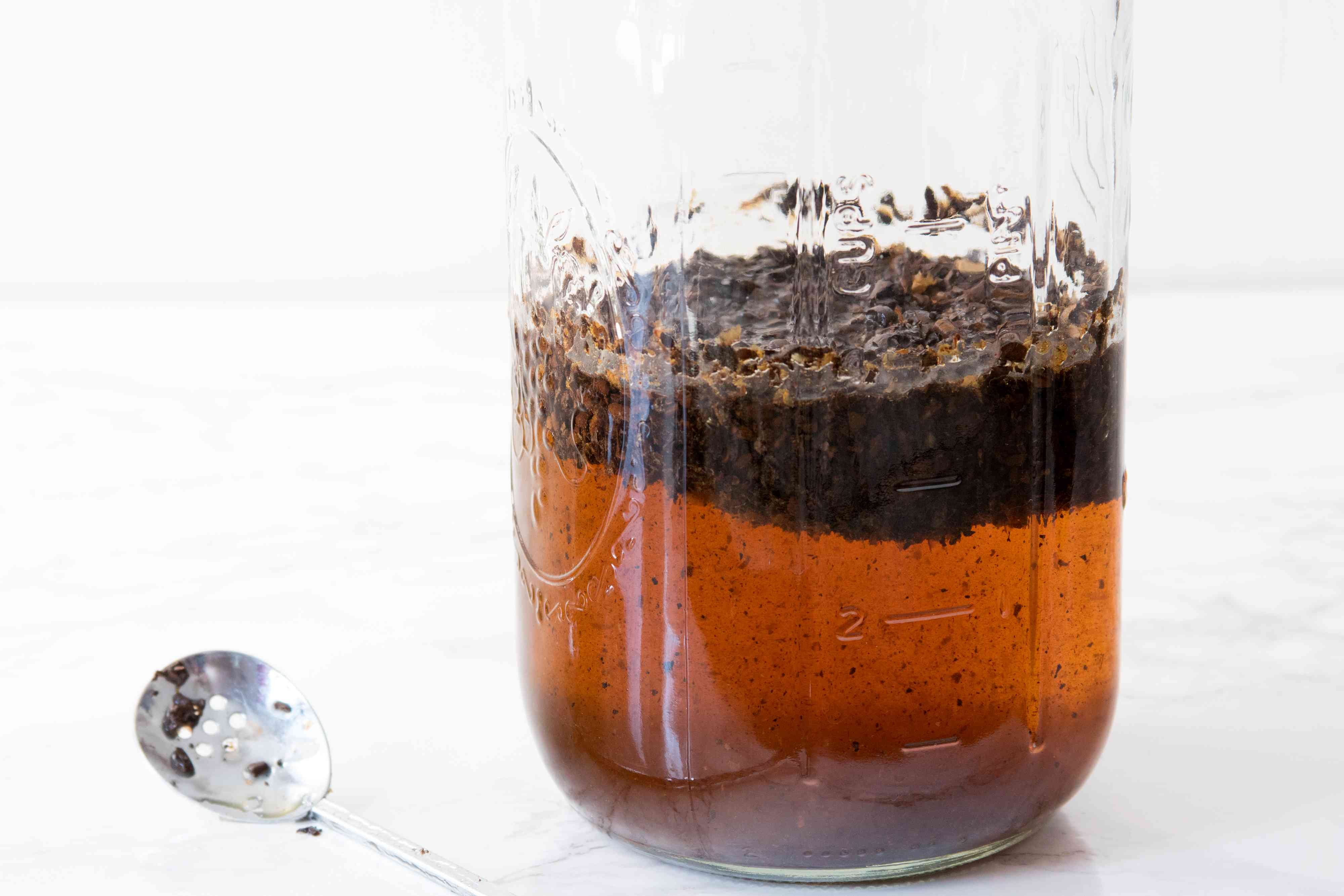 Combining Ingredients for Cold Brew Coffee