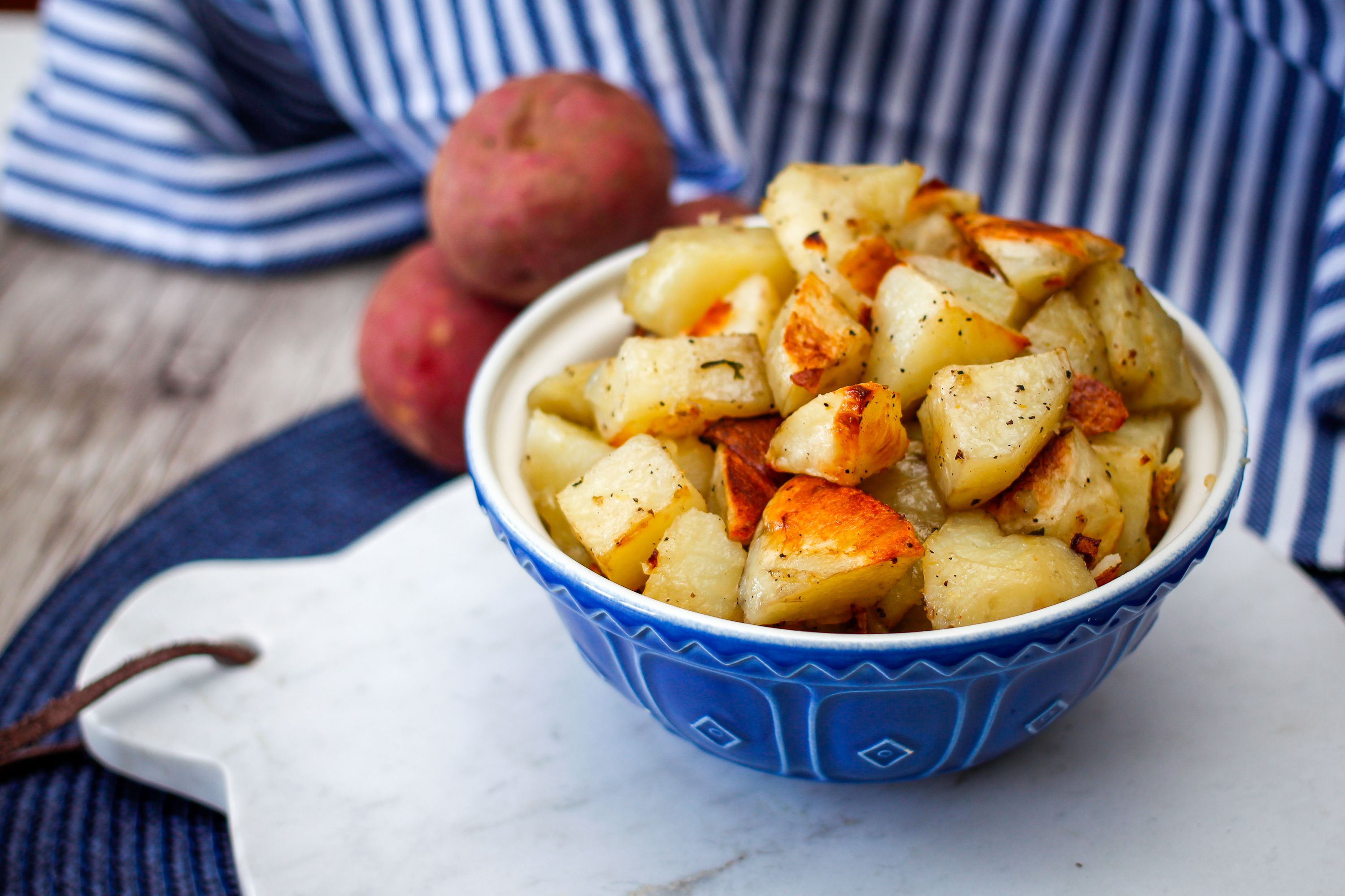 Roasted Potatoes With Garlic And Onions Recipe