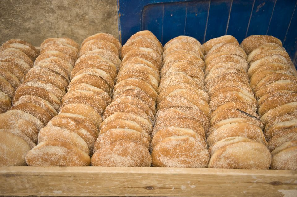 round loaves of Moroccan bread for sale