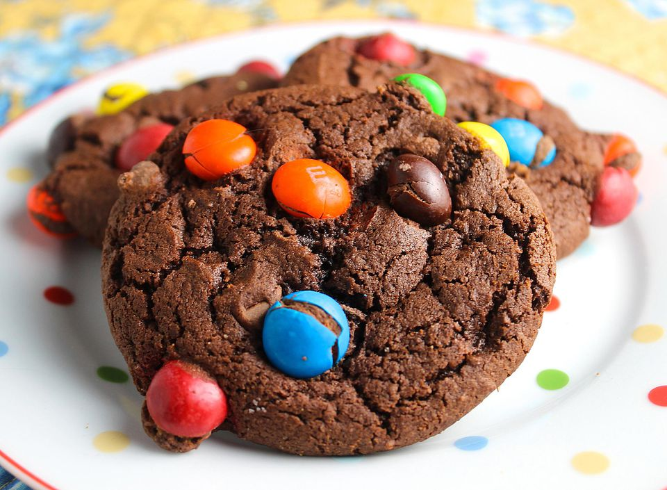 M&M Brownie Cookies