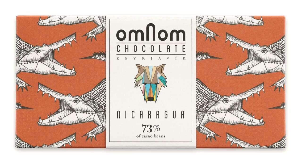 Omnom Chocolate 73% Nicaragua Icelandic Bean To Bar Chocolate