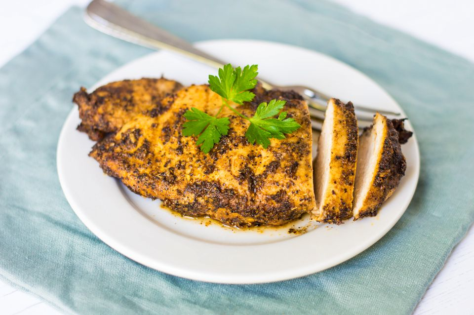 Cajun spiced chicken breast
