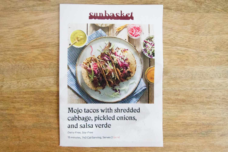 Sunbasket recipe card