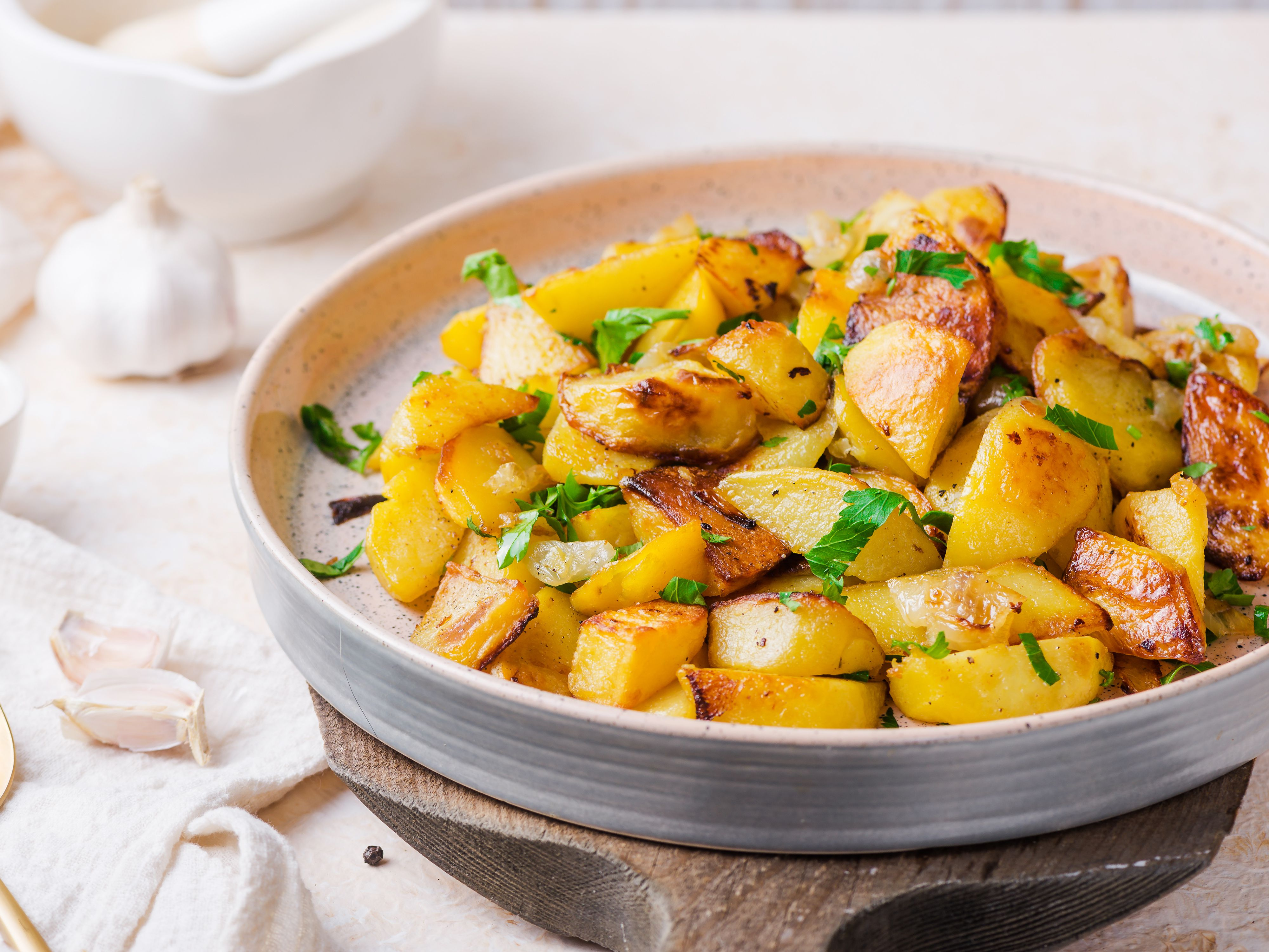 Crispy Oven Fried Potatoes Recipe