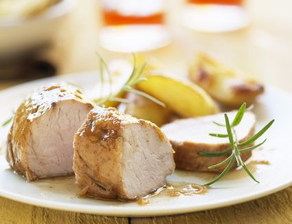 French pork medallions with apples