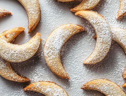 German Almond Crescent Cookies