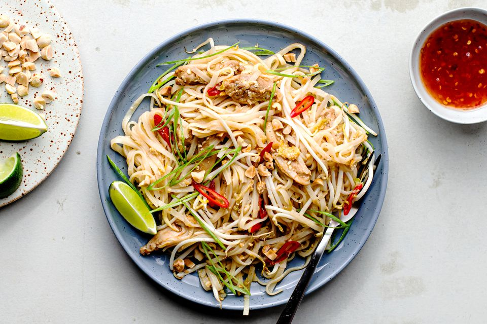 Chicken pad Thai without tamarind recipe
