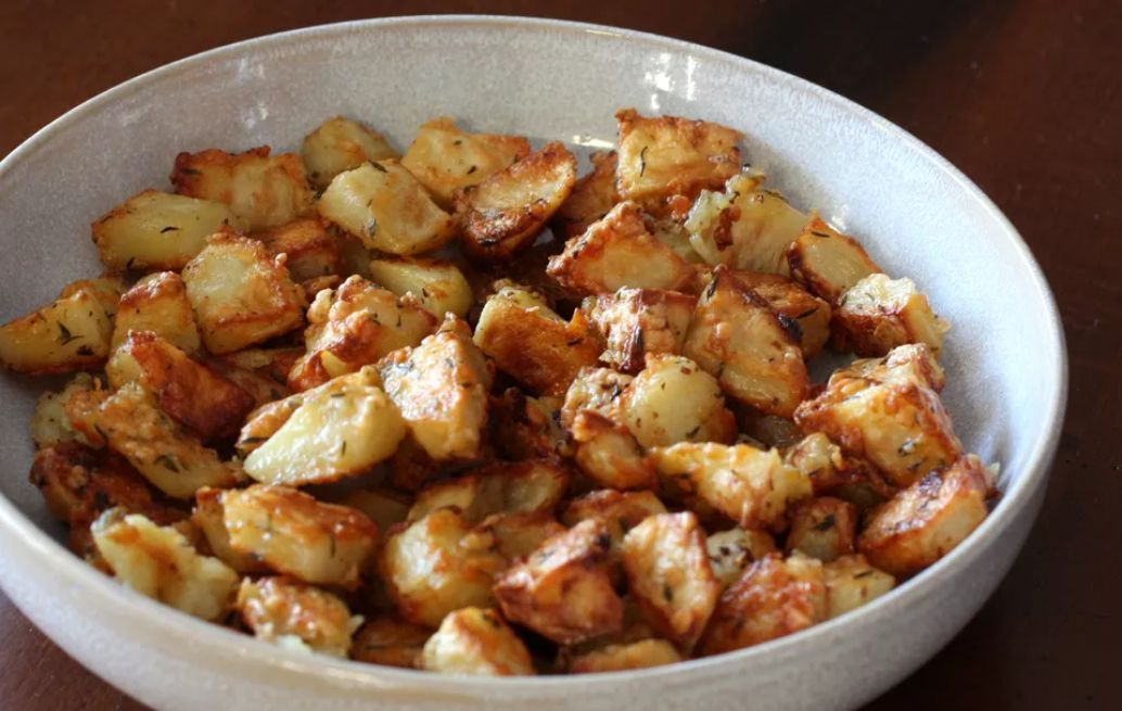 Roasted potatoes with Parmesan cheese