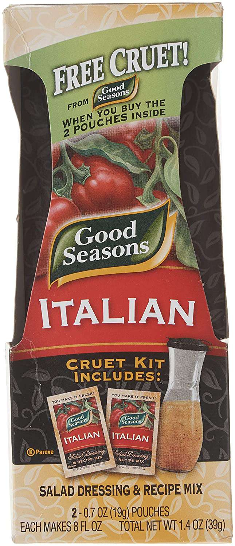 Good Seasons Italian Dressing Mix, 2 Packages with Cruet