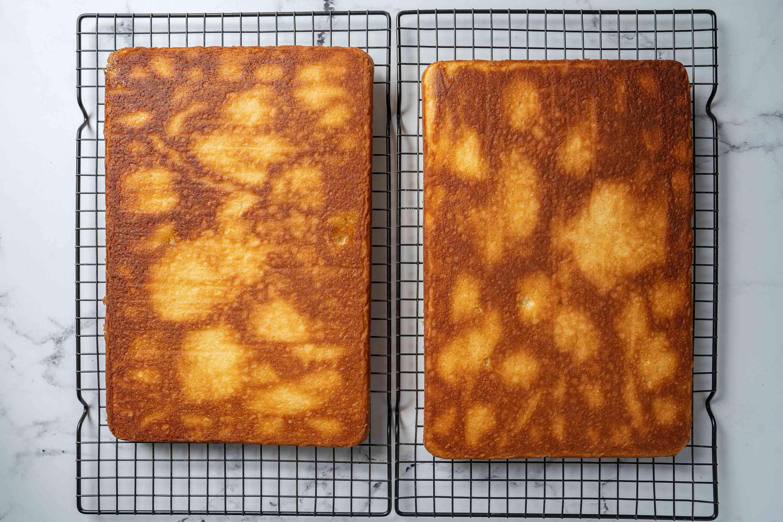 Cooling Lamington Cake