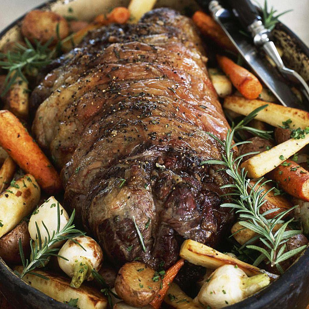 Marinated Rotisserie Roast Beef