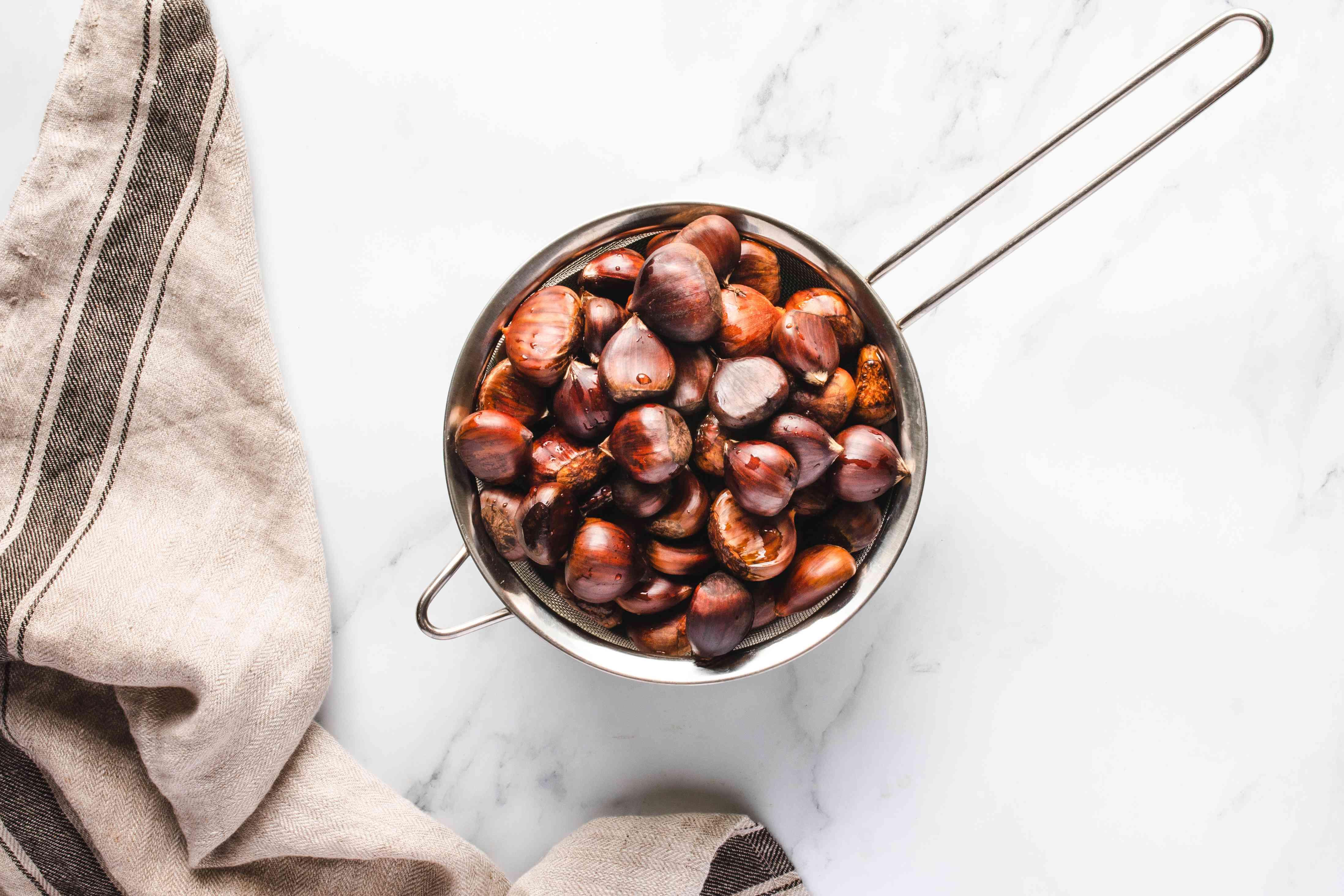 Drain chestnuts